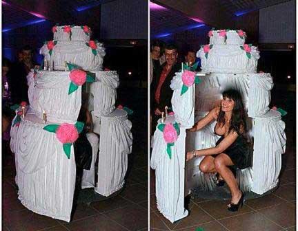 Stripteaseuse Nice Anniversaire cadeau géant