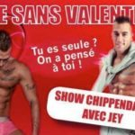 Strip-tease masculin Paris Saint Valentin