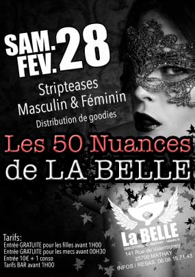 Striptease masculin féminin Mathay Doubs
