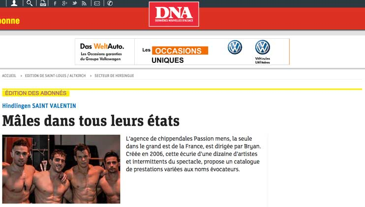 Chippendales Alsace Passion Mens DNA