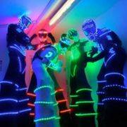 Echassiers robots LED