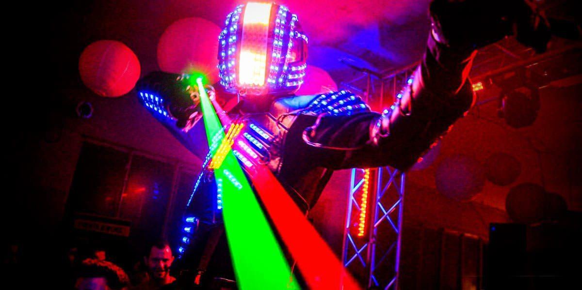 Robot LED performer