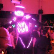 Robot à led pour soirée Pink
