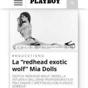 Stripteaseuse Paris Mia – Playboy Magazine Italie