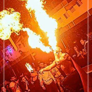 Performer feu Bruxelles