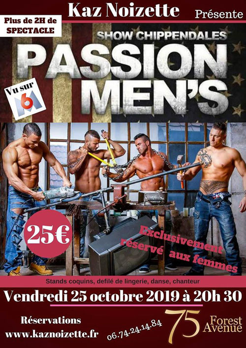 Affiche Chippendales Passion Mens 02